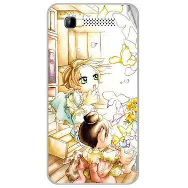 Snooky 41895 Digital Print Mobile Skin Sticker For Intex Aqua 3G - White
