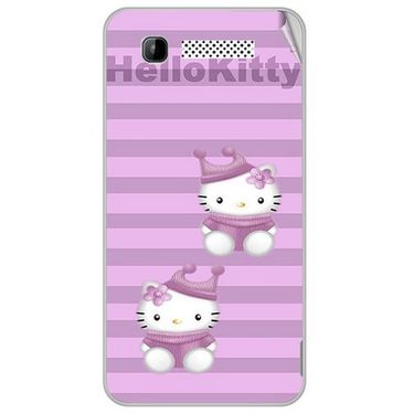 Snooky 41897 Digital Print Mobile Skin Sticker For Intex Aqua 3G - Pink