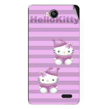 Snooky 41908 Digital Print Mobile Skin Sticker For Intex Aqua 4.5e - Pink