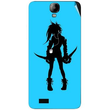Snooky 41921 Digital Print Mobile Skin Sticker For Intex Aqua Amaze - Blue