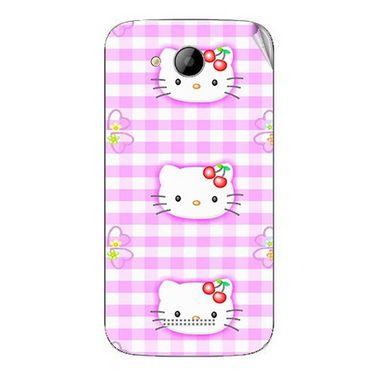 Snooky 41997 Digital Print Mobile Skin Sticker For Intex Aqua i5 - Pink