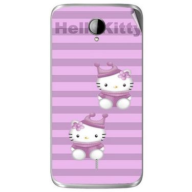 Snooky 42018 Digital Print Mobile Skin Sticker For Intex Aqua i14 - Pink