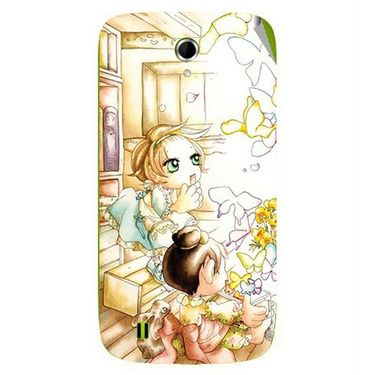 Snooky 42060 Digital Print Mobile Skin Sticker For Intex Aqua N4 - White
