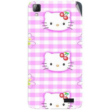 Snooky 42074 Digital Print Mobile Skin Sticker For Intex Aqua N7 - Pink