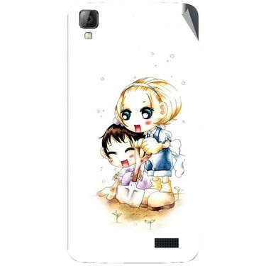 Snooky 42079 Digital Print Mobile Skin Sticker For Intex Aqua N7 - White