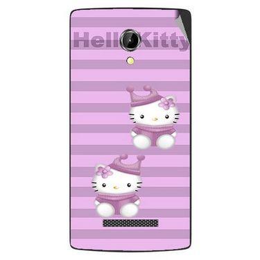 Snooky 42084 Digital Print Mobile Skin Sticker For Intex Aqua N8 - Pink
