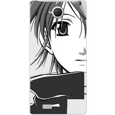 Snooky 42098 Digital Print Mobile Skin Sticker For Intex Aqua N17 - Grey