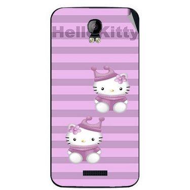 Snooky 42128 Digital Print Mobile Skin Sticker For Intex Aqua Q1 - Pink
