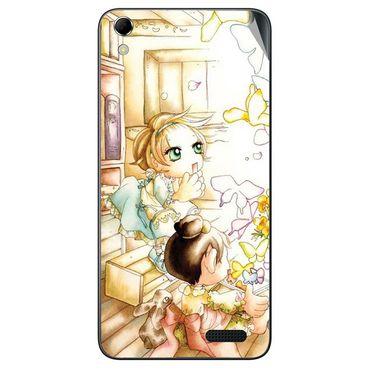 Snooky 42137 Digital Print Mobile Skin Sticker For Intex Aqua Q3 - White