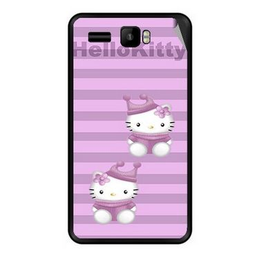 Snooky 42150 Digital Print Mobile Skin Sticker For Intex Aqua R3 - Pink