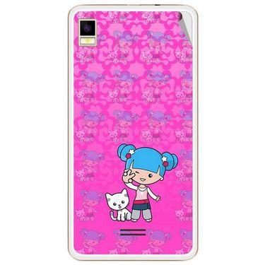 Snooky 42176 Digital Print Mobile Skin Sticker For Intex Aqua Star 5.0 - Pink