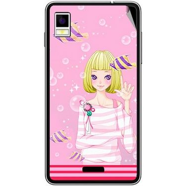 Snooky 42202 Digital Print Mobile Skin Sticker For Intex Aqua Style - Pink
