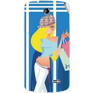 Snooky 42212 Digital Print Mobile Skin Sticker For Intex Aqua SUPERB - Blue