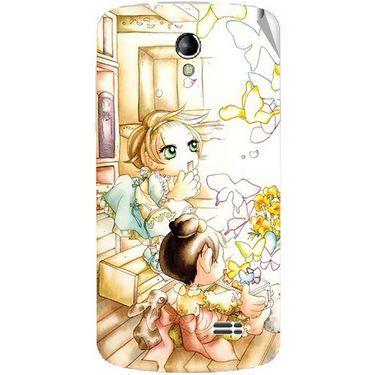 Snooky 42214 Digital Print Mobile Skin Sticker For Intex Aqua SUPERB - White