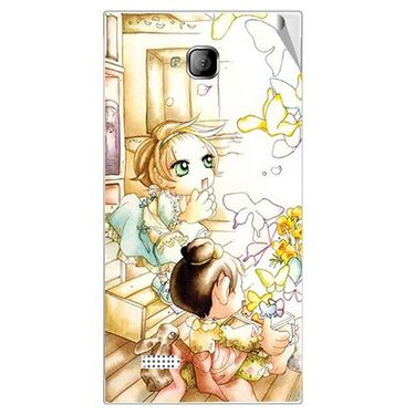 Snooky 42258 Digital Print Mobile Skin Sticker For Intex Aqua Y2 - White