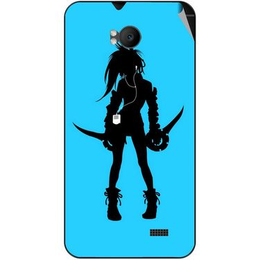 Snooky 42284 Digital Print Mobile Skin Sticker For Intex Aqua Y2 Remote - Blue