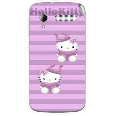 Snooky 42304 Digital Print Mobile Skin Sticker For Intex Cloud Y12 - Pink