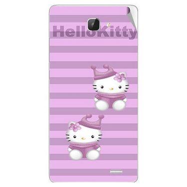 Snooky 42315 Digital Print Mobile Skin Sticker For Intex Aqua I5 HD - Pink