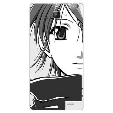 Snooky 42318 Digital Print Mobile Skin Sticker For Intex Aqua I5 HD - Grey