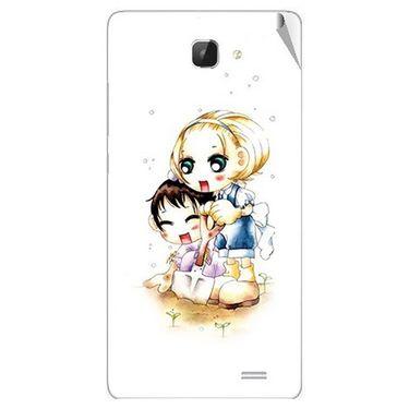 Snooky 42321 Digital Print Mobile Skin Sticker For Intex Aqua I5 HD - White