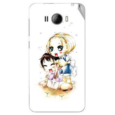Snooky 42332 Digital Print Mobile Skin Sticker For Intex Aqua N15 - White