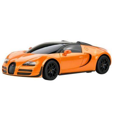 Bugatti Veryon 16.4 Grand 1:24 Remote Control Toy Car Model Black and Orange