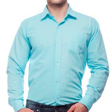 Branded Cotton Casual Shirt For Men_Fs904 - Sky Blue