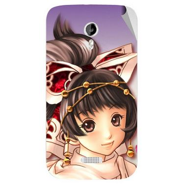 Snooky 46134 Digital Print Mobile Skin Sticker For Micromax Canvas Lite A92 - Multicolour