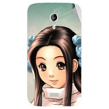 Snooky 46135 Digital Print Mobile Skin Sticker For Micromax Canvas Lite A92 - Multicolour