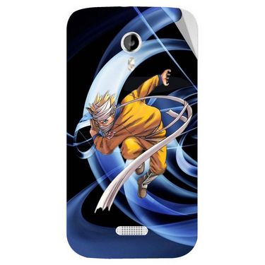 Snooky 46143 Digital Print Mobile Skin Sticker For Micromax Canvas Lite A92 - Blue
