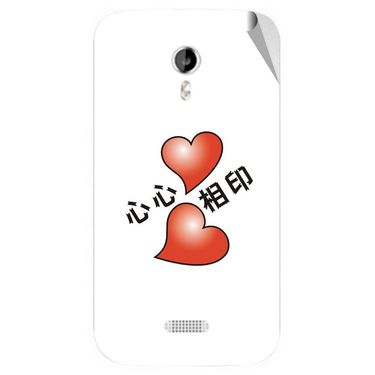 Snooky 46148 Digital Print Mobile Skin Sticker For Micromax Canvas Lite A92 - White