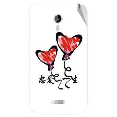 Snooky 46150 Digital Print Mobile Skin Sticker For Micromax Canvas Lite A92 - White