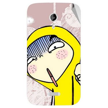 Snooky 46161 Digital Print Mobile Skin Sticker For Micromax Canvas Lite A92 - Multicolour