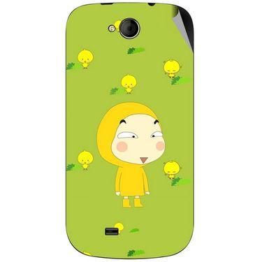 Snooky 46165 Digital Print Mobile Skin Sticker For Micromax Canvas Elanza A93 - Green