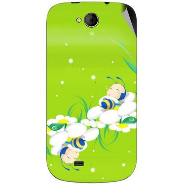Snooky 46171 Digital Print Mobile Skin Sticker For Micromax Canvas Elanza A93 - Green