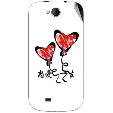 Snooky 46182 Digital Print Mobile Skin Sticker For Micromax Canvas Elanza A93 - White