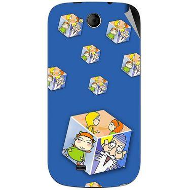 Snooky 46192 Digital Print Mobile Skin Sticker For Micromax Canvas Elanza A93 - Blue