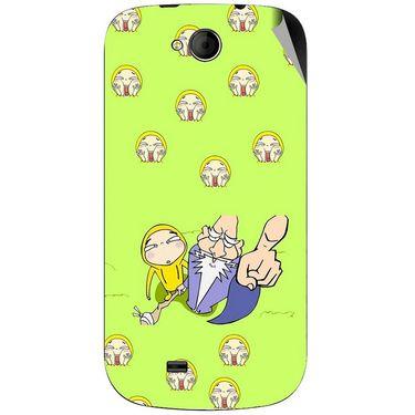 Snooky 46194 Digital Print Mobile Skin Sticker For Micromax Canvas Elanza A93 - Green