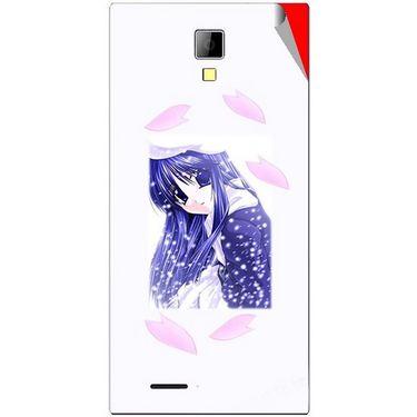 Snooky 46287 Digital Print Mobile Skin Sticker For Micromax Canvas Xpress A99 - White