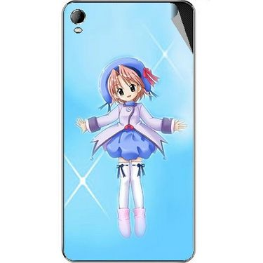 Snooky 46375 Digital Print Mobile Skin Sticker For Micromax A104 Canvas Fire 2 - Blue