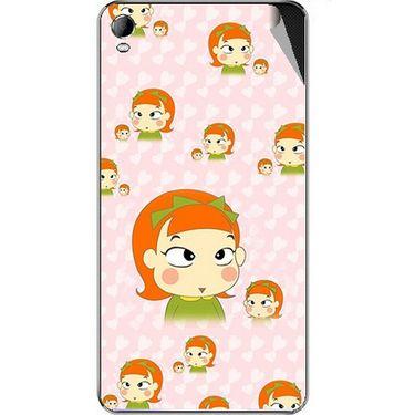 Snooky 46387 Digital Print Mobile Skin Sticker For Micromax A104 Canvas Fire 2 - Orange