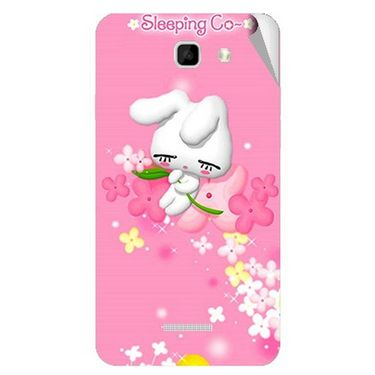 Snooky 46457 Digital Print Mobile Skin Sticker For Micromax Canvas Xl2 A109 - Pink