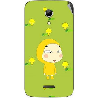 Snooky 46549 Digital Print Mobile Skin Sticker For Micromax Canvas 2.2 A114 - Green