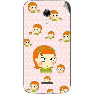 Snooky 46579 Digital Print Mobile Skin Sticker For Micromax Canvas 2.2 A114 - Orange