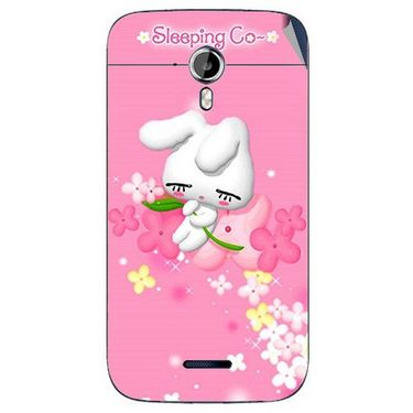 Snooky 46585 Digital Print Mobile Skin Sticker For Micromax Canvas Magnus A117 - Pink