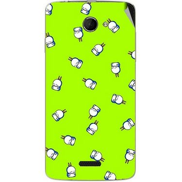 Snooky 46658 Digital Print Mobile Skin Sticker For Micromax Canvas Elanza 2 A121 - Green