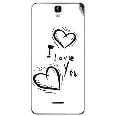 Snooky 46725 Digital Print Mobile Skin Sticker For Micromax Canvas HD Plus A190 - White