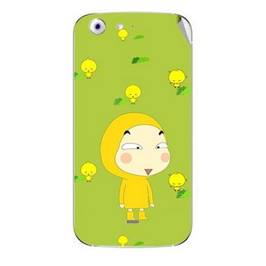 Snooky 46741 Digital Print Mobile Skin Sticker For Micromax Canvas 4 A210 - Green