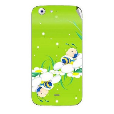 Snooky 46747 Digital Print Mobile Skin Sticker For Micromax Canvas 4 A210 - Green