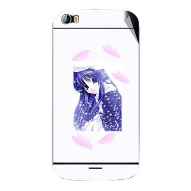 Snooky 46799 Digital Print Mobile Skin Sticker For Micromax Canvas Doodle 2 A240 - White